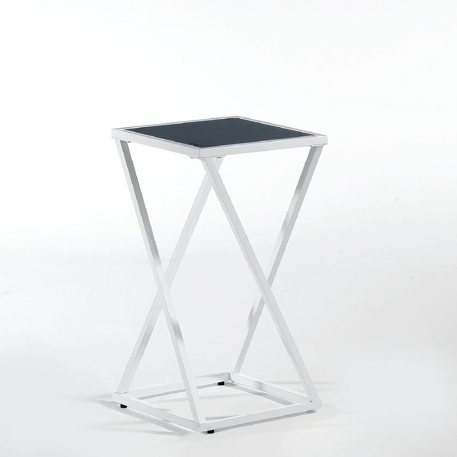 blumenst nder hocker s ule beistelltisch design m bel in schwarz grau 55 75 cm ebay. Black Bedroom Furniture Sets. Home Design Ideas