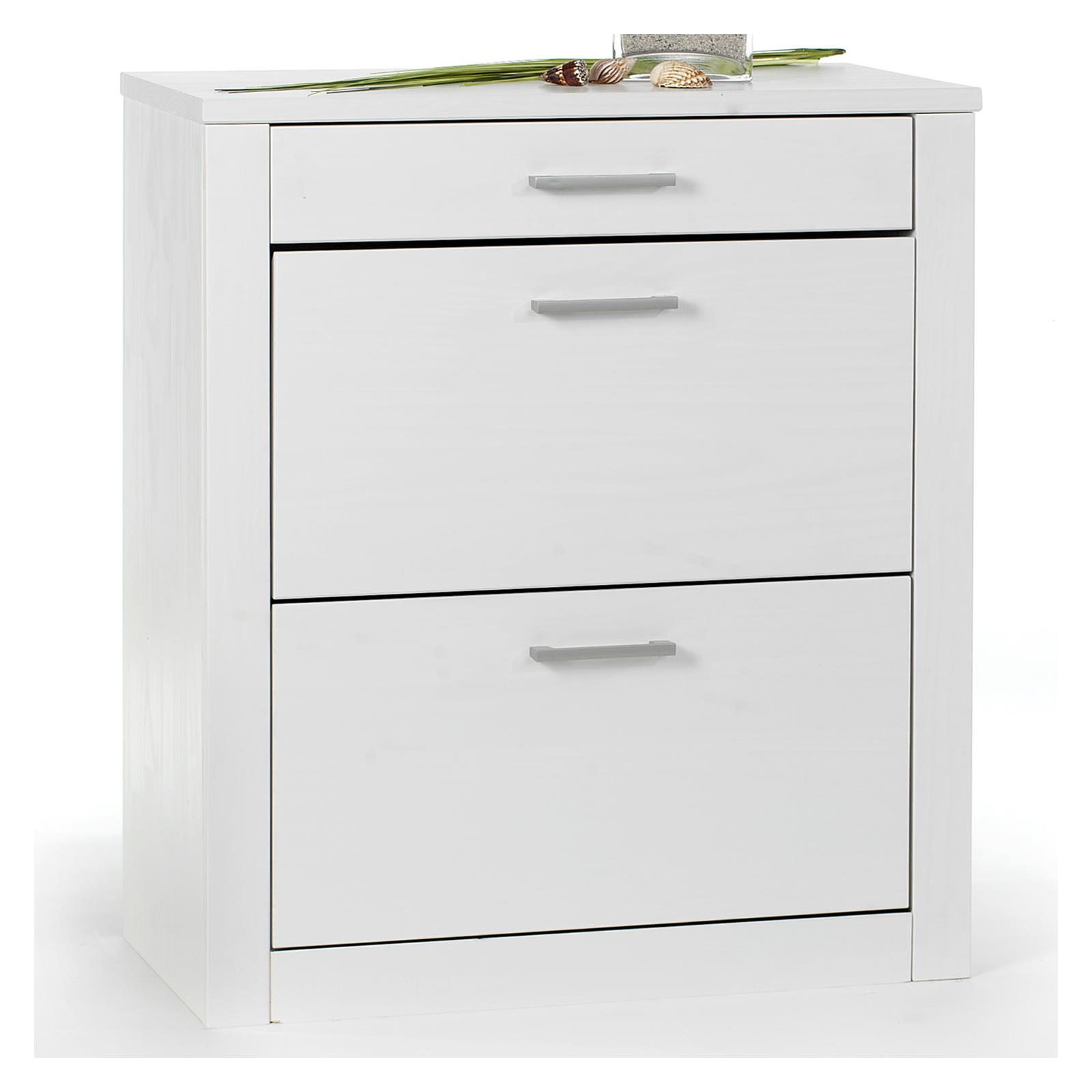 meuble rangement a chaussures pin lasur blanc 2. Black Bedroom Furniture Sets. Home Design Ideas