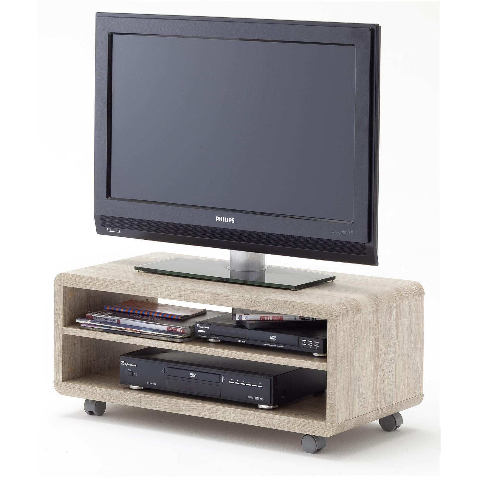 Tv fernseh schrank lowboard tisch m bel design eiche for Tisch design eiche