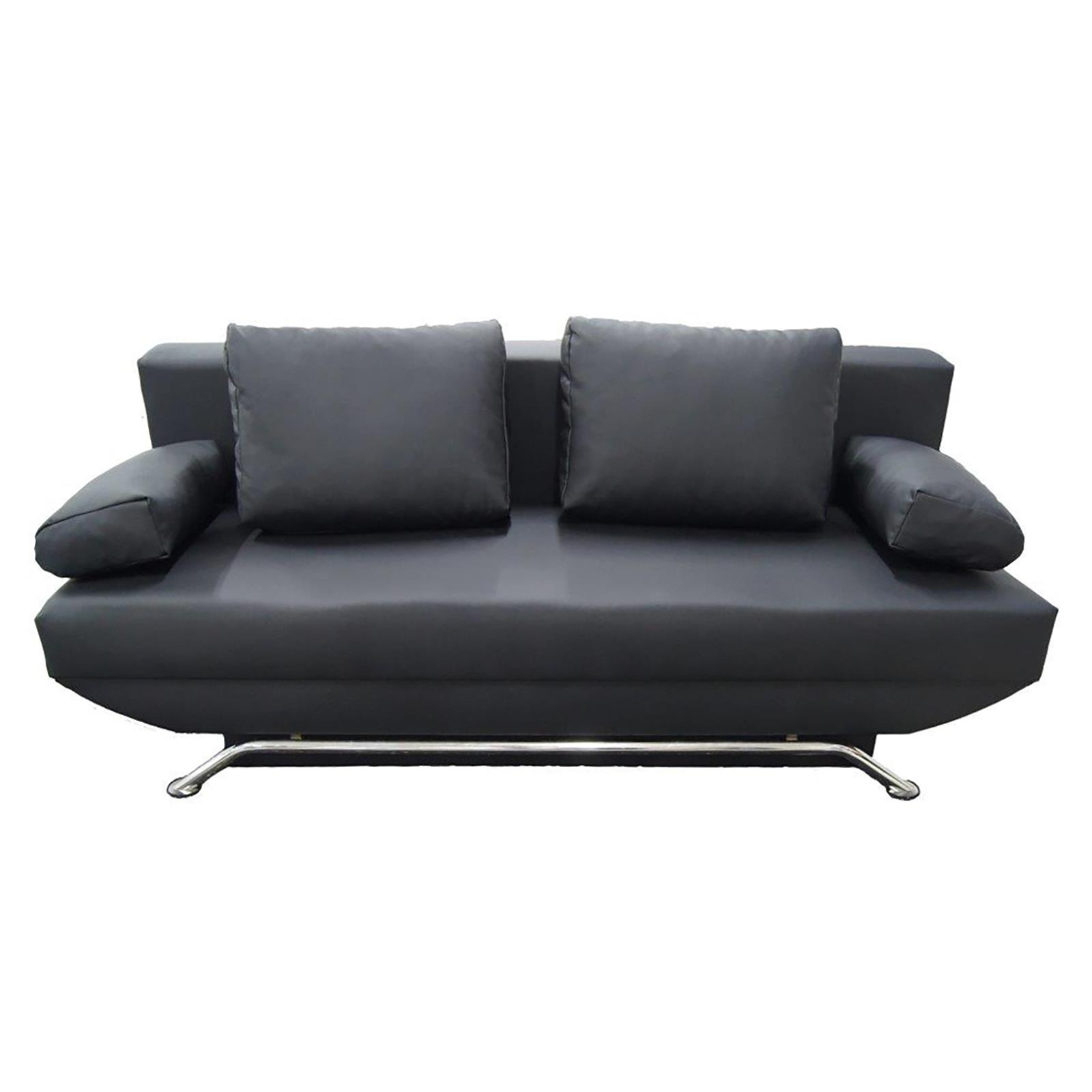 schlafsofa couch mit bettkasten in schwarz oder weiss 3. Black Bedroom Furniture Sets. Home Design Ideas