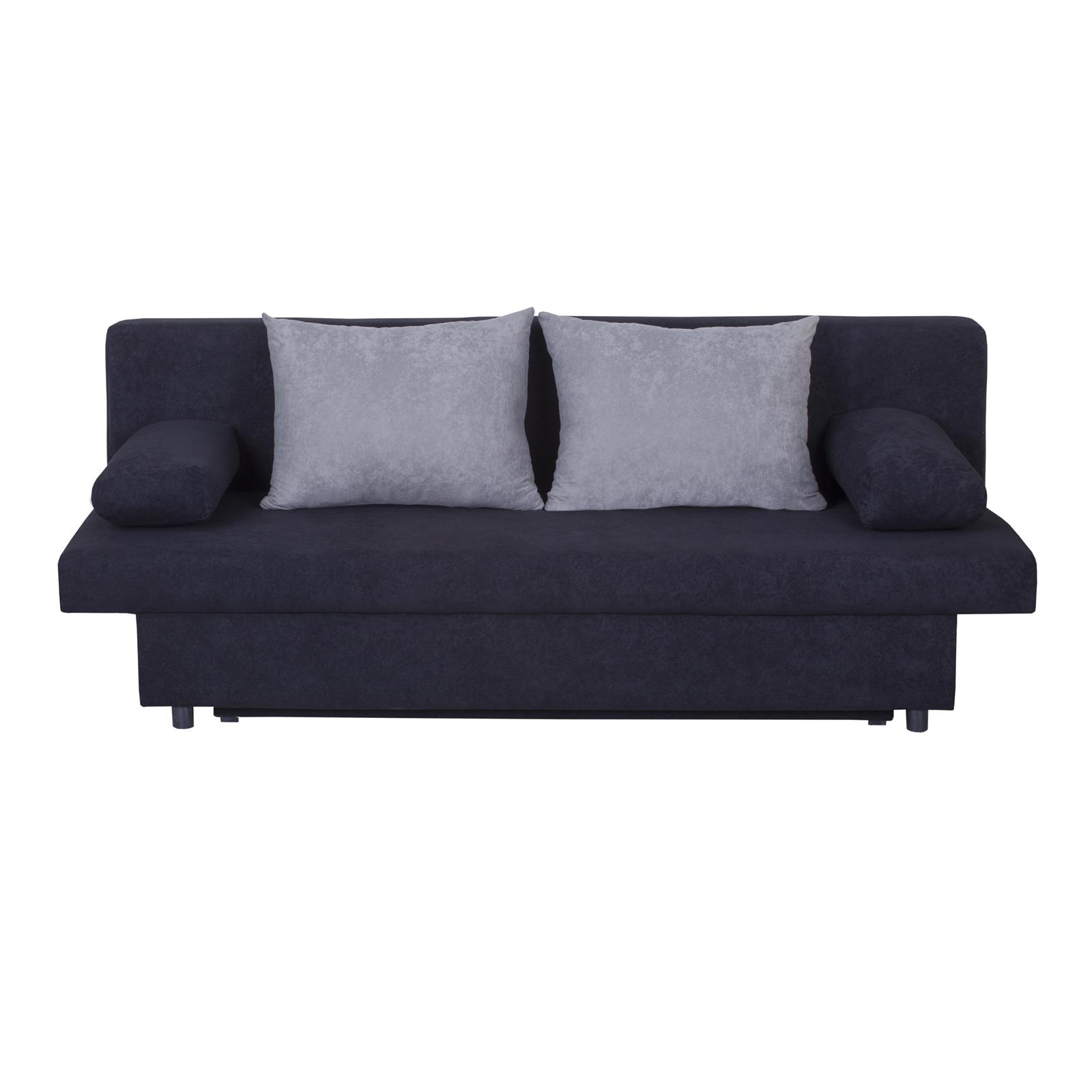schlafsofa schlafcouch 3 sitzer sofa mit bettkasten in. Black Bedroom Furniture Sets. Home Design Ideas