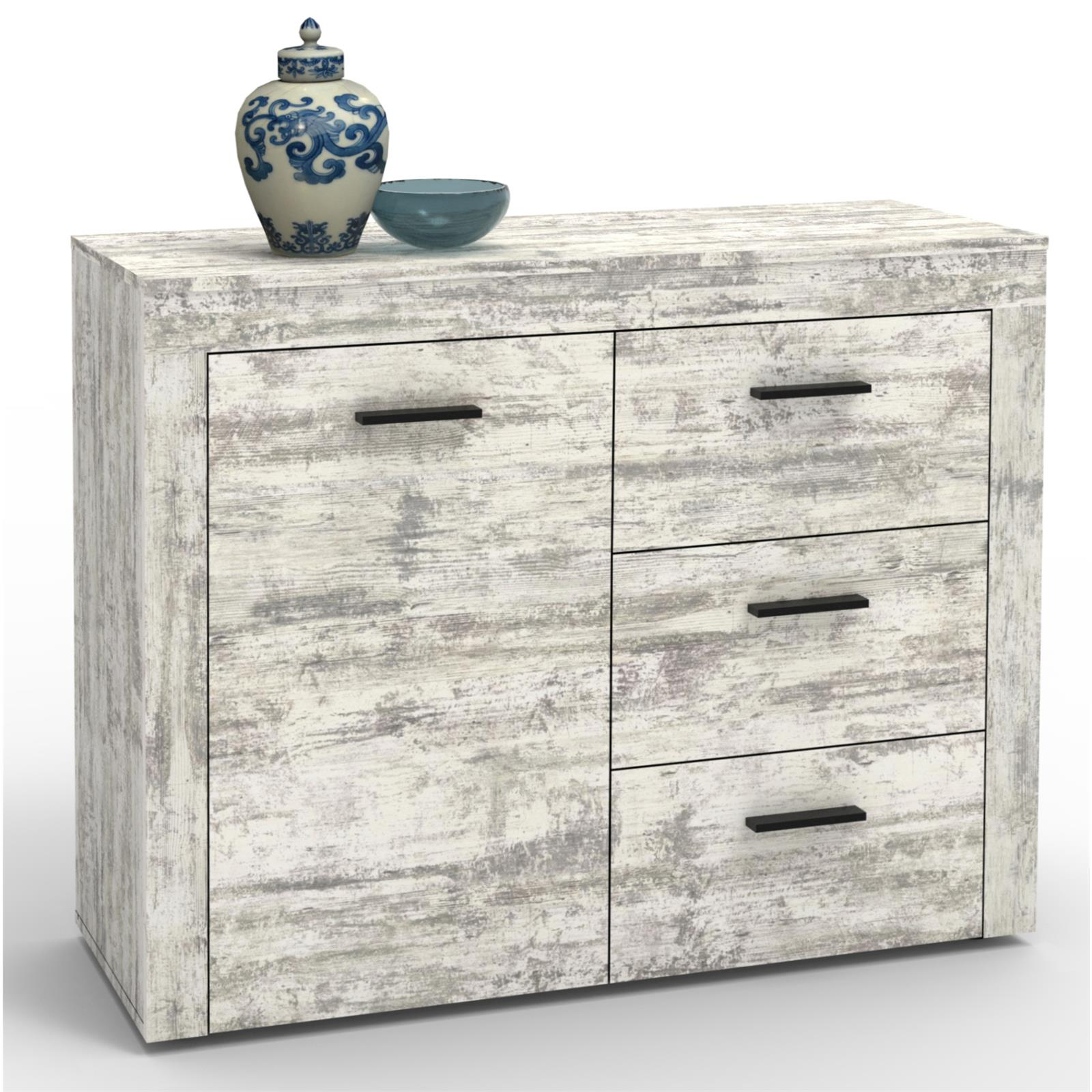 kommode sideboard highboard shabby chic oder sonoma eiche. Black Bedroom Furniture Sets. Home Design Ideas