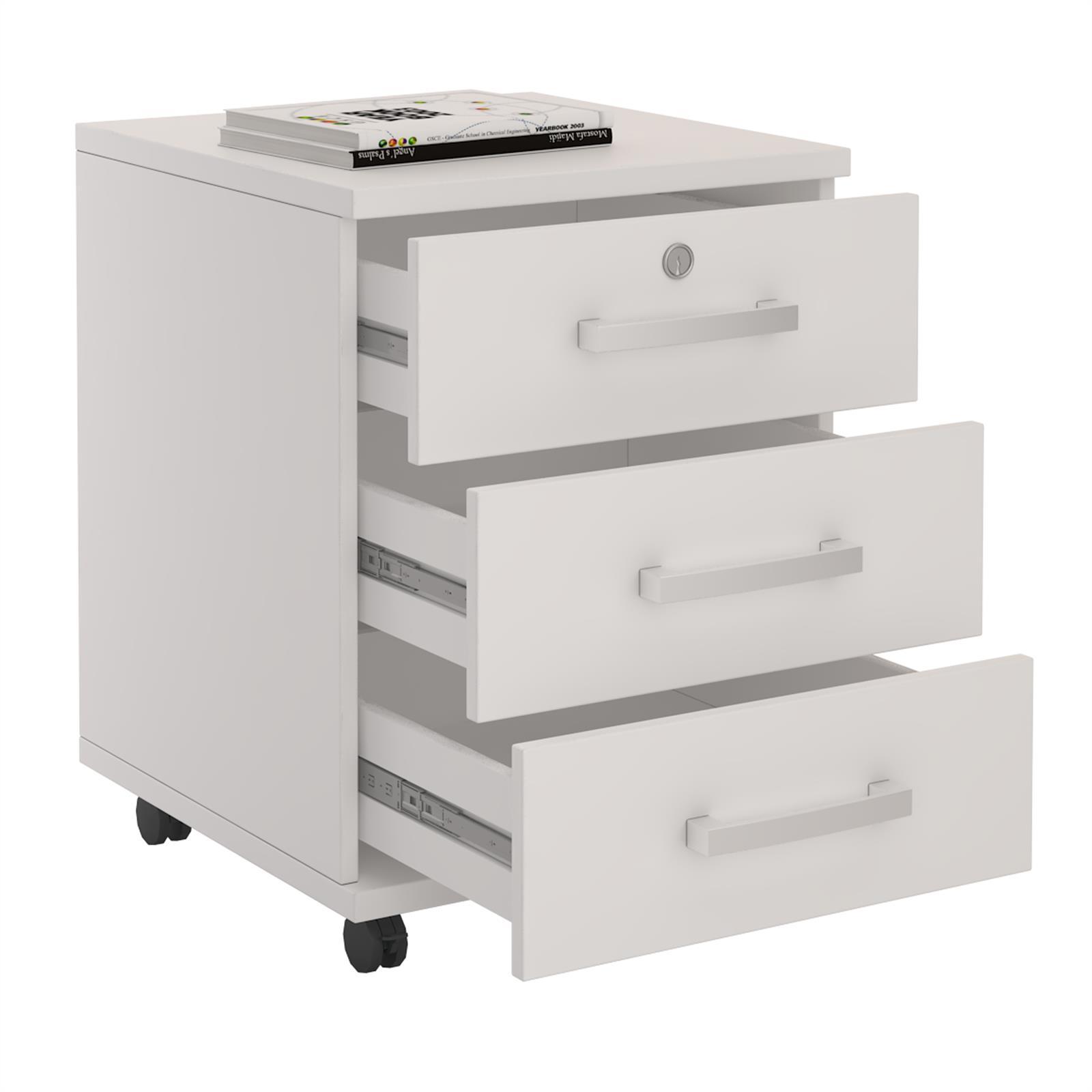 rollcontainer b rocontainer schubladenschrank b roschrank abschlie bar ebay. Black Bedroom Furniture Sets. Home Design Ideas