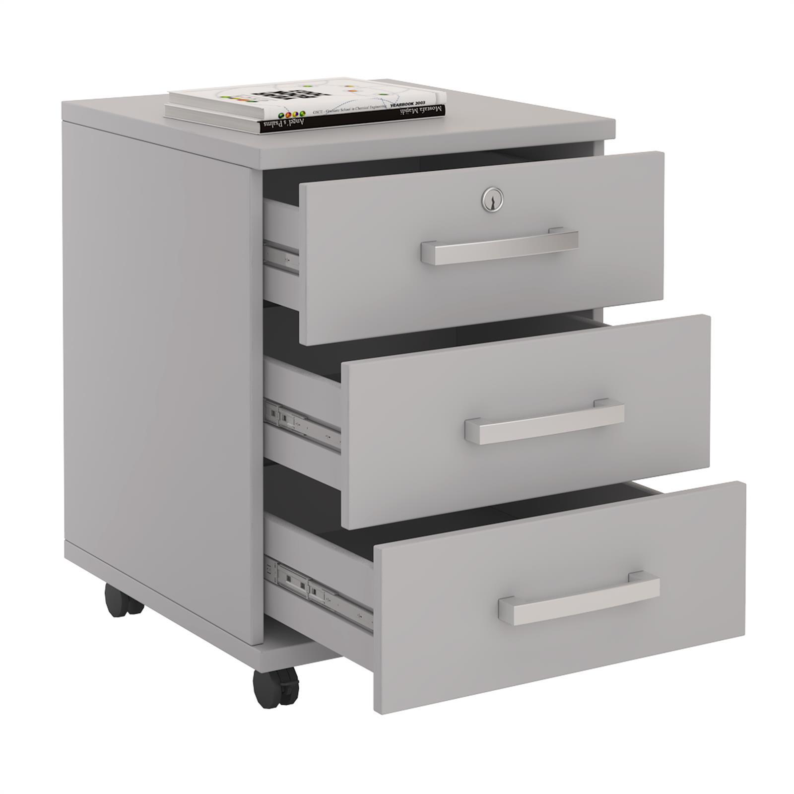 Büroschrank abschließbar  Rollcontainer Bürocontainer Schubladenschrank Büroschrank ...
