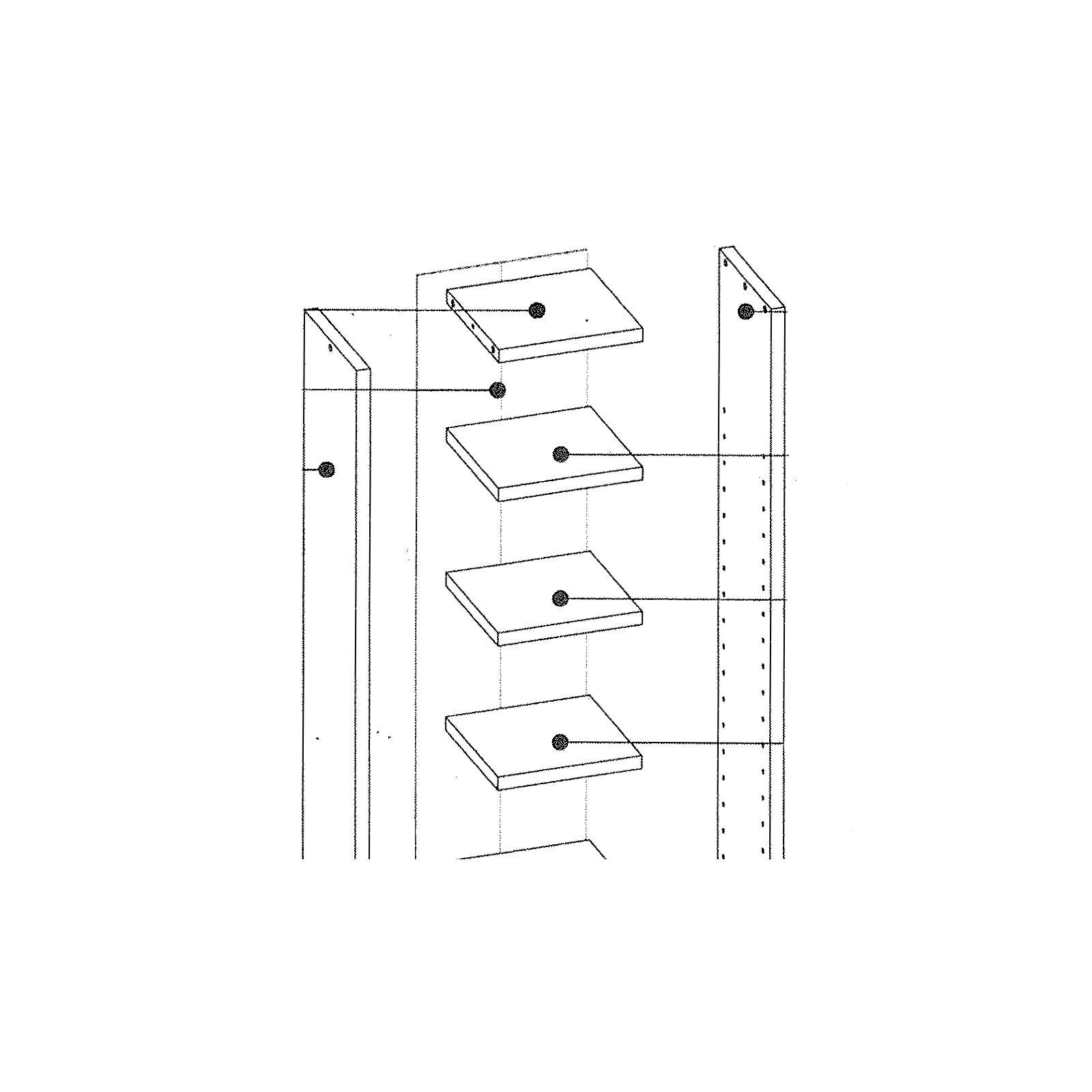 Möbel design regal  CD Regal DVD Stand Medien Aufbewahrung Möbel Design in weiss ...