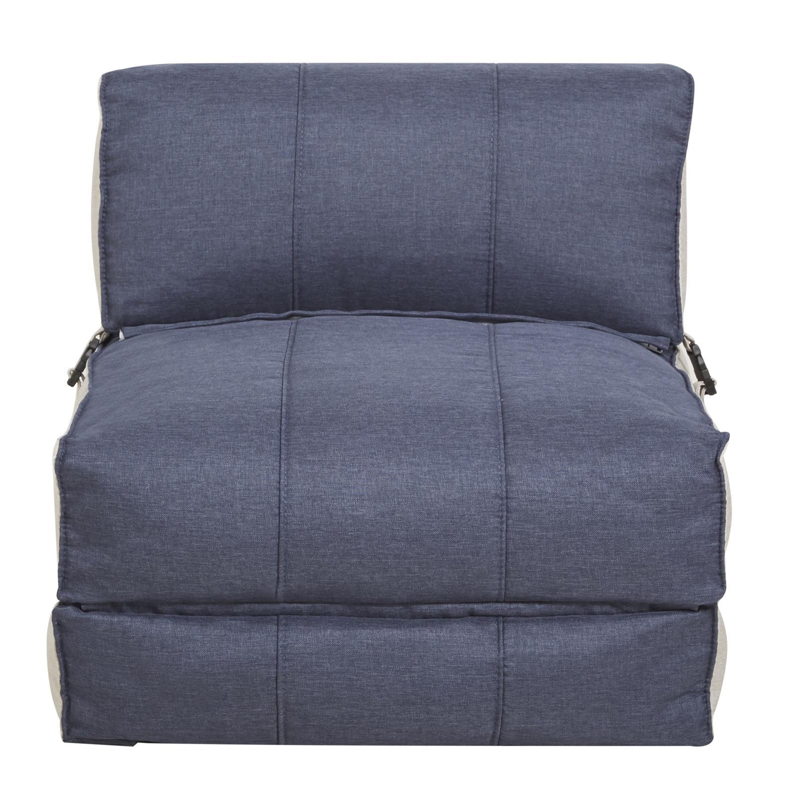 schlafsessel g stebett stoffbezug in blau gr n oder grau. Black Bedroom Furniture Sets. Home Design Ideas