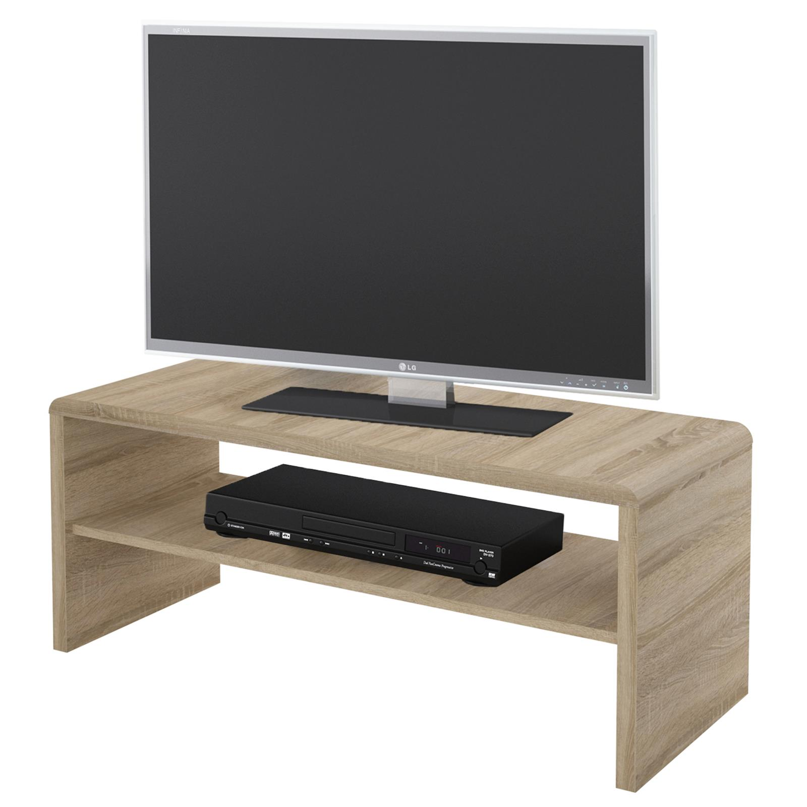 tv lowboard oder couchtisch in eiche sonoma wei 100 cm breit fernseh tisch ebay. Black Bedroom Furniture Sets. Home Design Ideas
