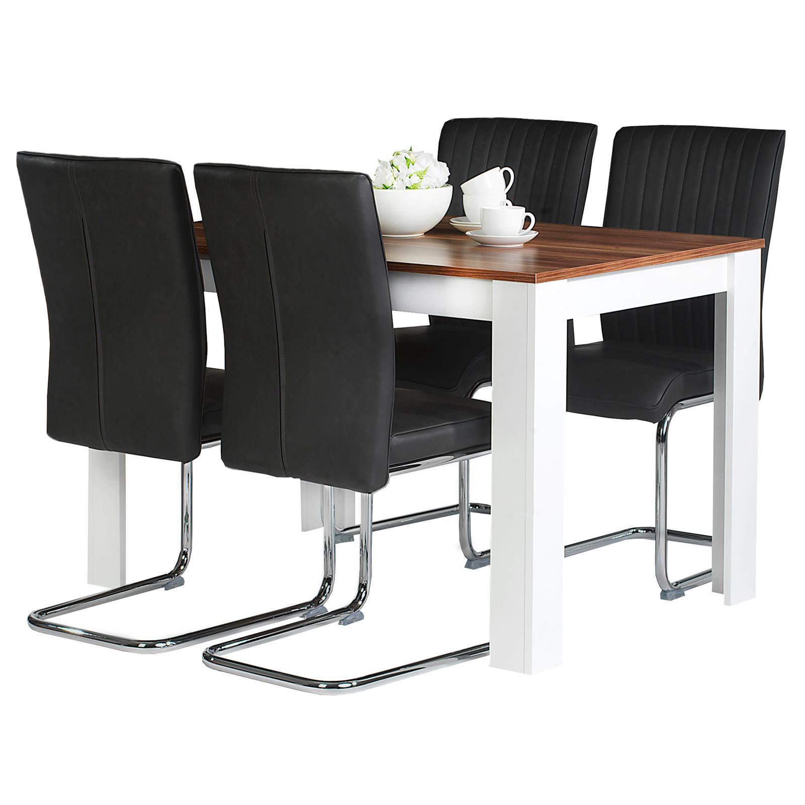 esstisch 120 x 75 x 80 cm b x h x t esszimmertisch k chentisch modern design ebay. Black Bedroom Furniture Sets. Home Design Ideas