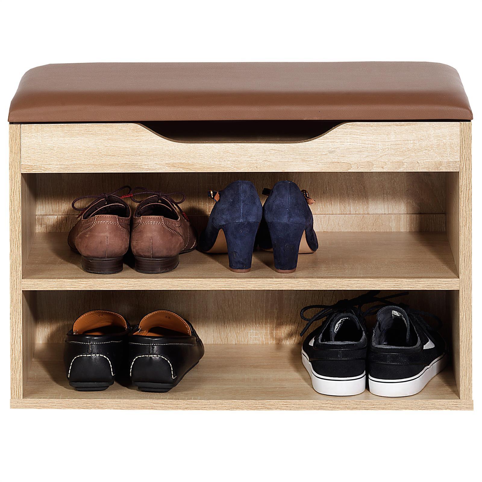 schuhbank sitzbank truhe schuhregal mit kissen 6 paar - Schuhregale Setzen Schuh Kollektion