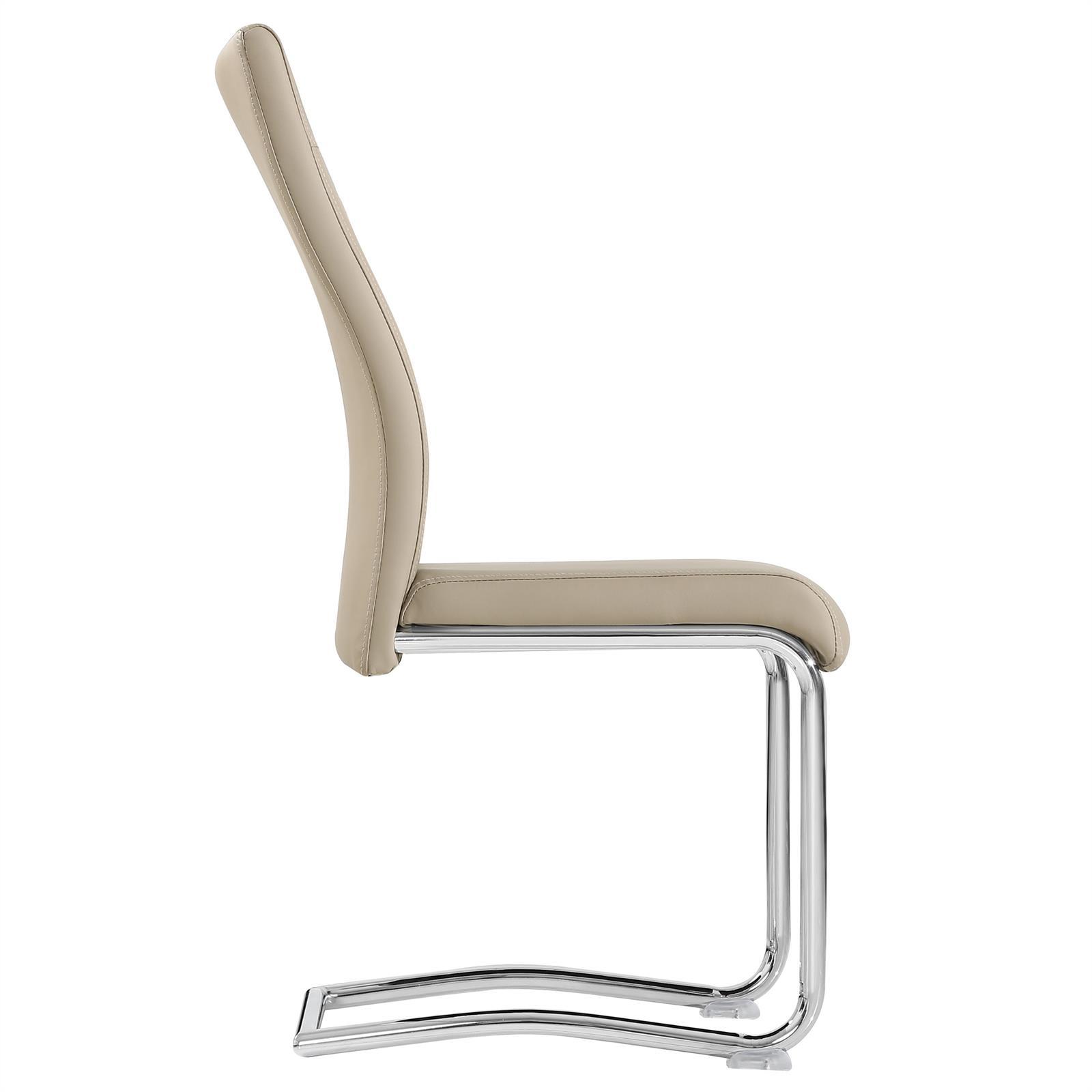 4er set esszimmerstuhl k chenstuhl schwingstuhl freischwinger chrom design ebay. Black Bedroom Furniture Sets. Home Design Ideas