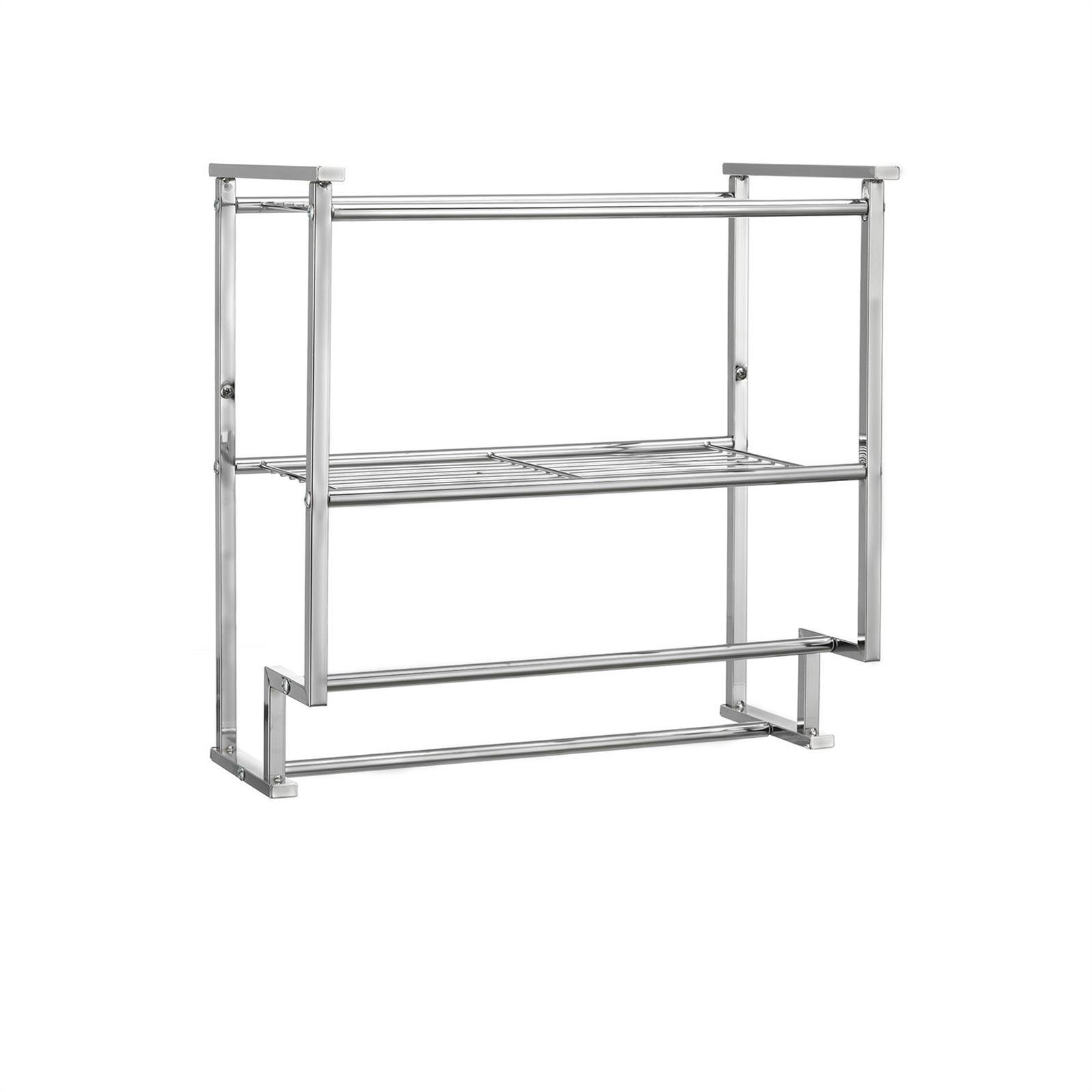 bad wandregal handtuchhalter h ngeregal 45 cm breit metall verchromt ebay. Black Bedroom Furniture Sets. Home Design Ideas