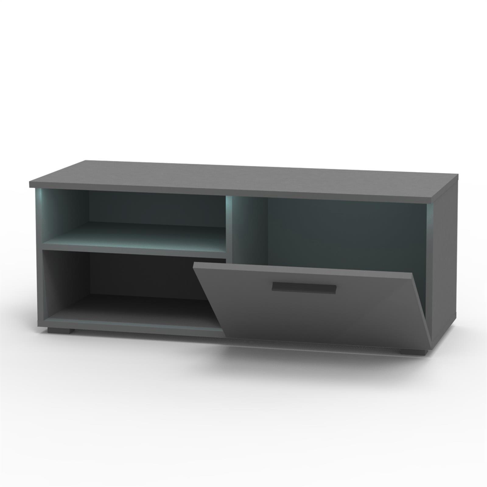 tv lowboard in hochglanz 3 farben mit led beleuchtung. Black Bedroom Furniture Sets. Home Design Ideas