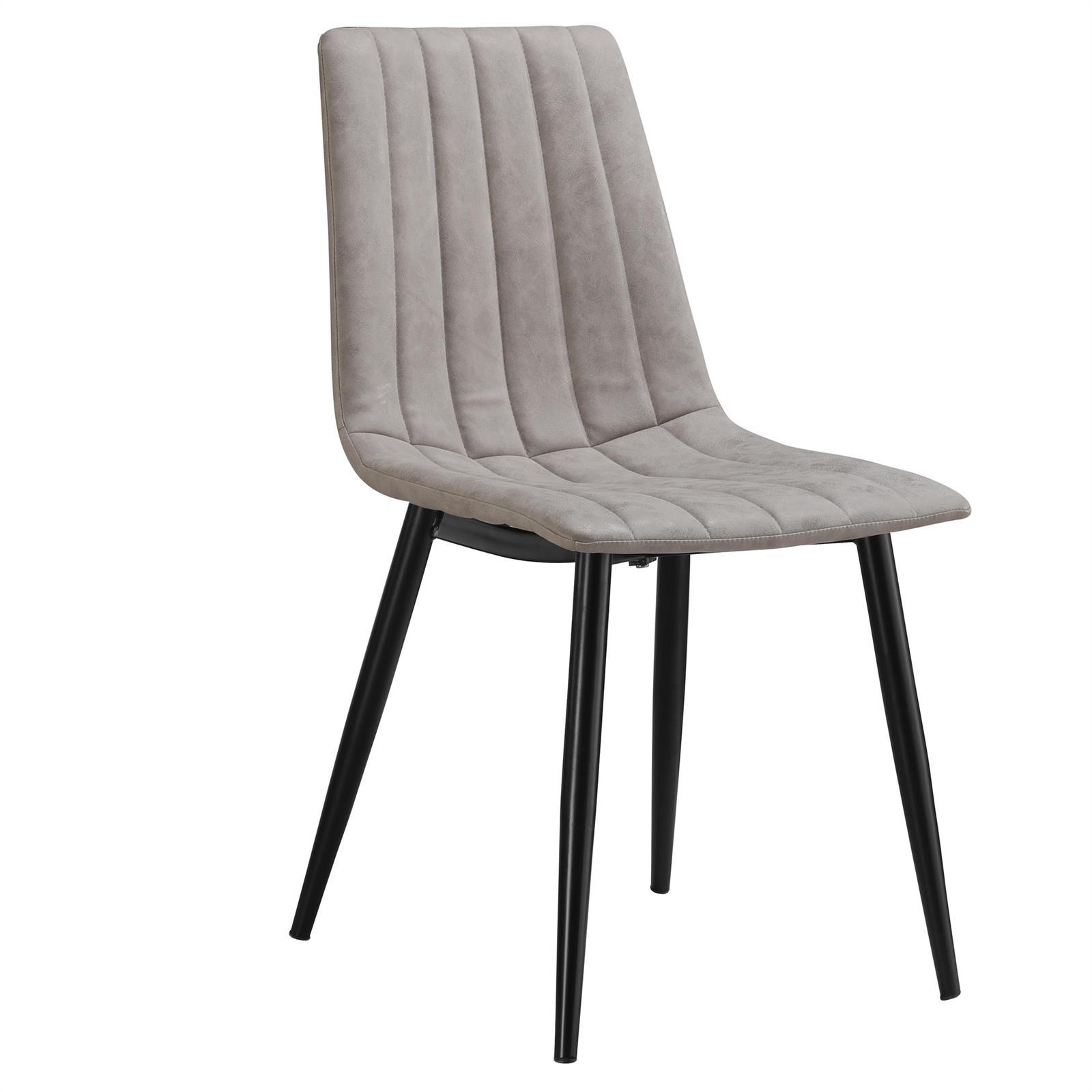 esszimmerstuhl 4er set k chen polsterstuhl design retro vintage wildleder look ebay. Black Bedroom Furniture Sets. Home Design Ideas