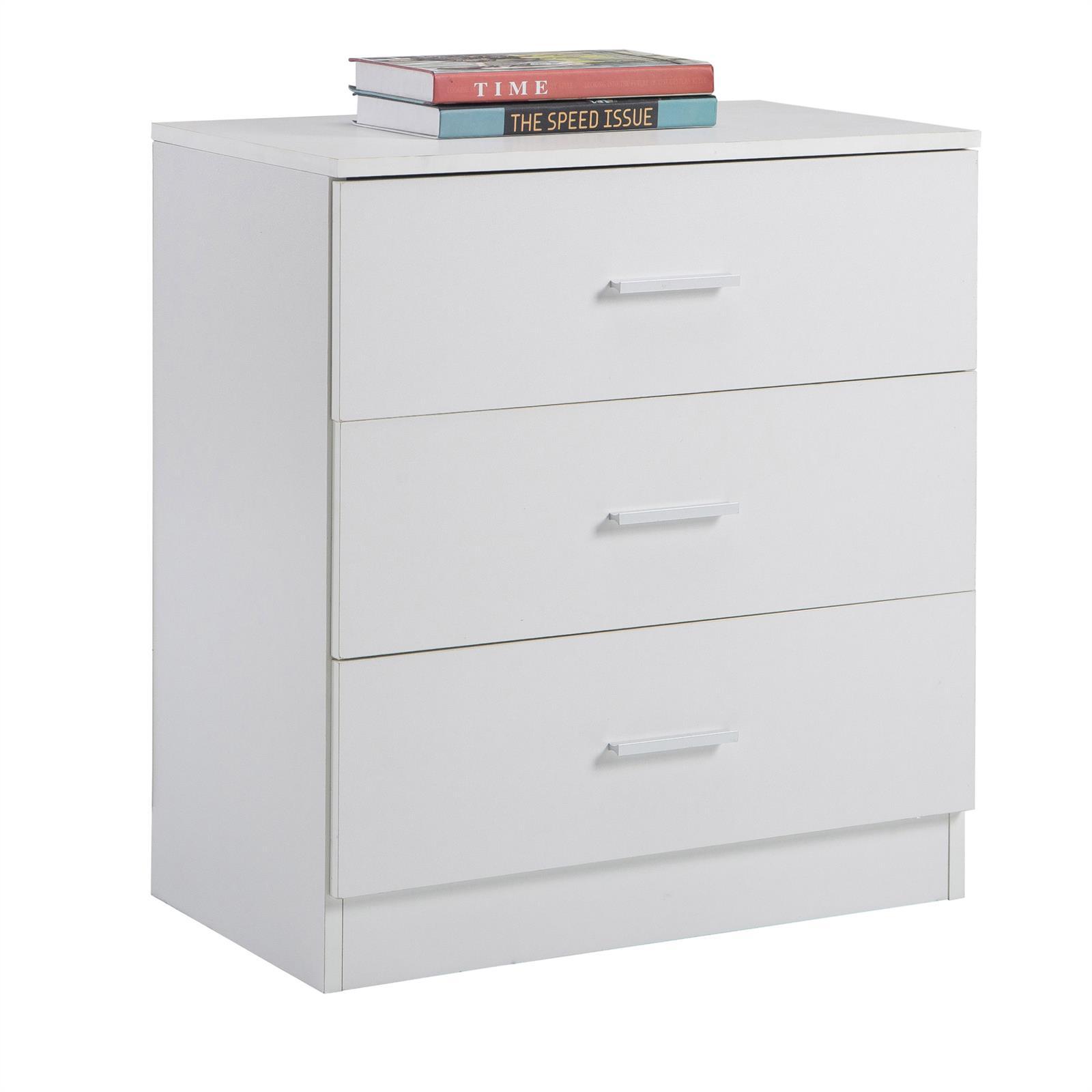 kommode mehrzweck schrank nacht boxspringbett mit 3 schubladen 60cm breit ebay. Black Bedroom Furniture Sets. Home Design Ideas