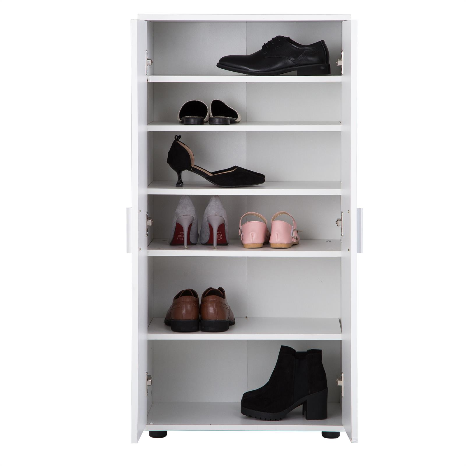 schuhschrank schuhregal kommode aufbewahrung diele flur 55cm breit 2 t ren ebay. Black Bedroom Furniture Sets. Home Design Ideas