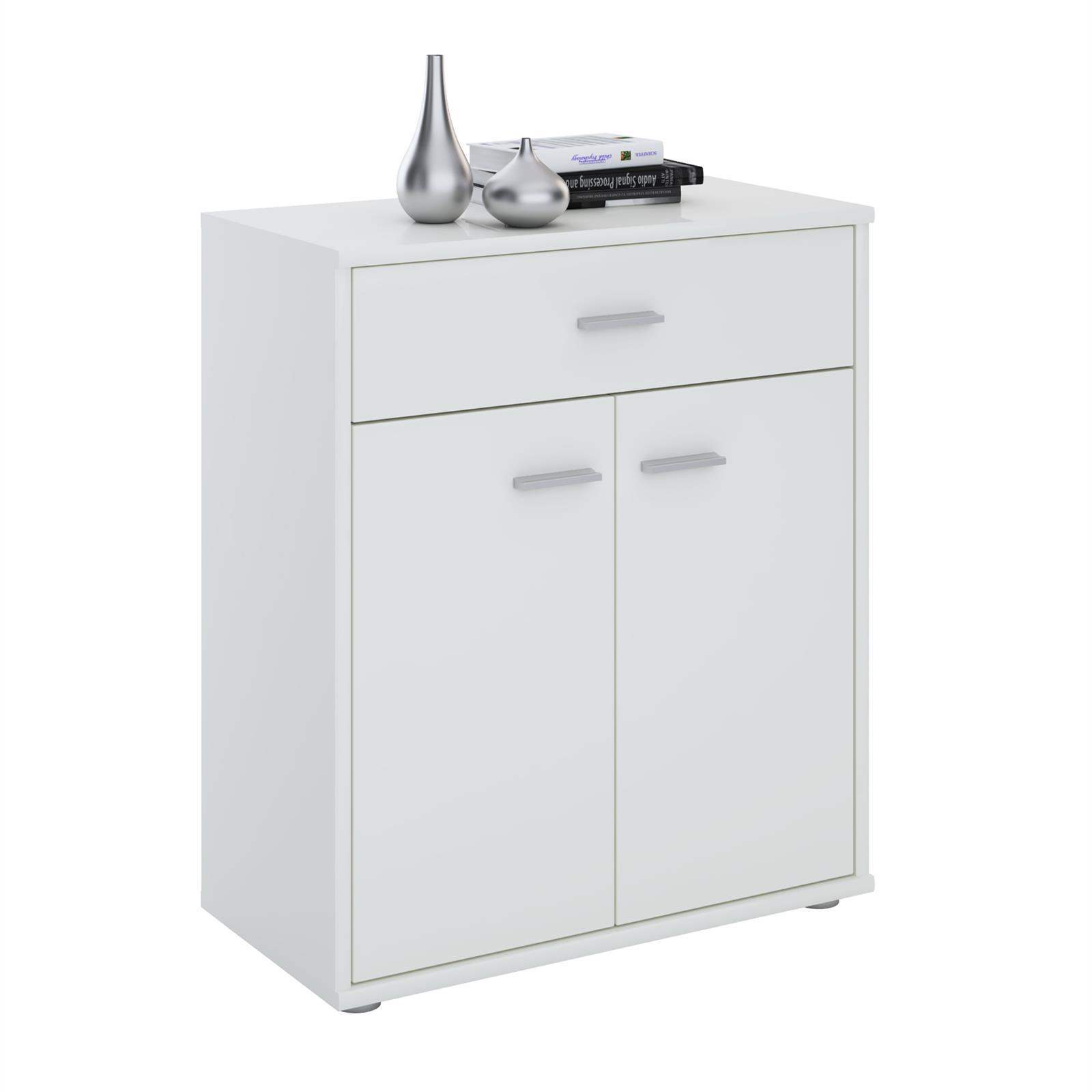 kommode sideboard schrank anrichte versch farben mit schublade design ebay. Black Bedroom Furniture Sets. Home Design Ideas