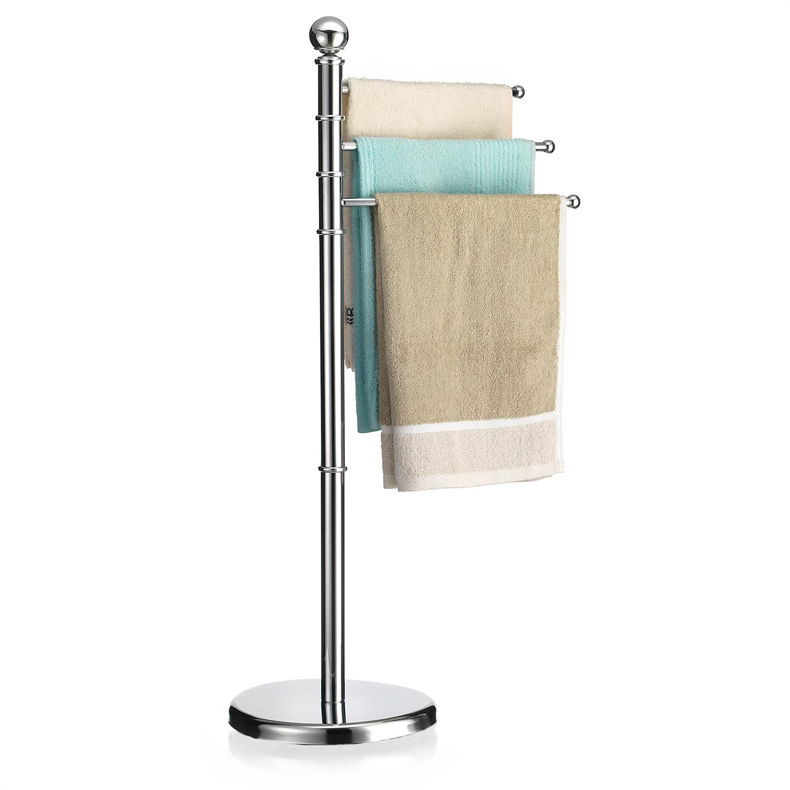 Handtuchhalter Handtuchständer Badetuch Stand Halter Design 3 bewegliche Arme
