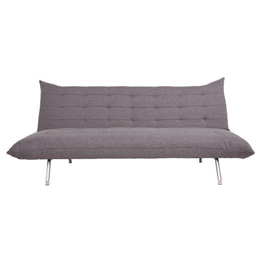 schlafcouch sofa 2 sitzer grau polster m bel g stebett funktion design modern ebay. Black Bedroom Furniture Sets. Home Design Ideas