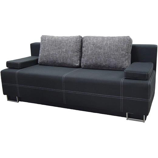 schlafsofa couch 2 sitzer schwarz garnitur polster m bel mit bettkasten design ebay. Black Bedroom Furniture Sets. Home Design Ideas