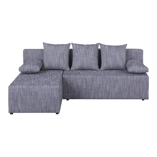 Ecksofa grau mit schlaffunktion bettkasten ottomane for Eckcouch links