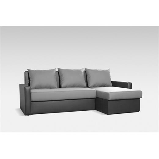 ecksofa couchgarnitur grau schwarz mit schlaffunktion. Black Bedroom Furniture Sets. Home Design Ideas