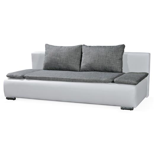 schlafcouch schlafsofa couch sofa in weiss grau 2 sitzer 200 cm breit neu ebay. Black Bedroom Furniture Sets. Home Design Ideas