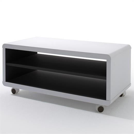 tvlowboard tvschrank auf rollen in verschiedenen farben. Black Bedroom Furniture Sets. Home Design Ideas
