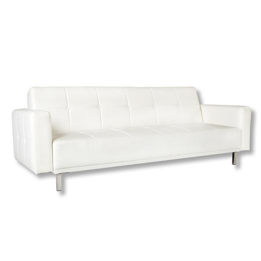 schlafsofa klappcouch funktion creme weiss kunstleder design liege desing modern ebay. Black Bedroom Furniture Sets. Home Design Ideas