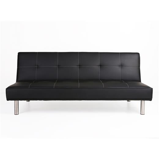 klappsofa schlafsofa klappcouch schlafcouch schwarz kunstleder weisse n hte ebay. Black Bedroom Furniture Sets. Home Design Ideas