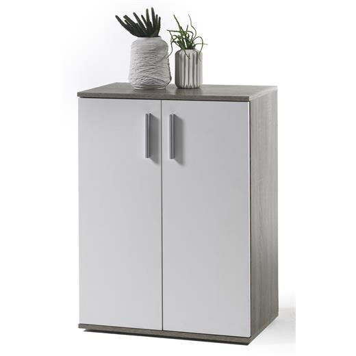 Kommode sideboard in eiche sonoma dunkel wei 60 x 82 x 35 for Kommode 35 cm breit