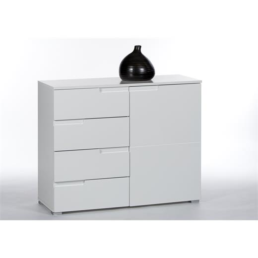 kommode 100 cm breit anrichte sideboard schrank mehrzweck m bel weiss. Black Bedroom Furniture Sets. Home Design Ideas