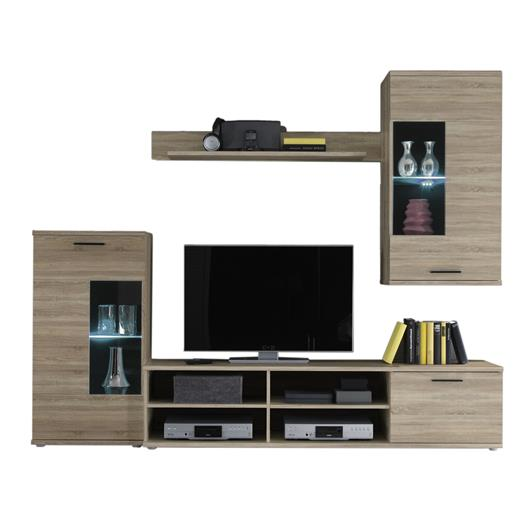 wohnwand anbauwand schrankwand tv wand schrank cubo. Black Bedroom Furniture Sets. Home Design Ideas