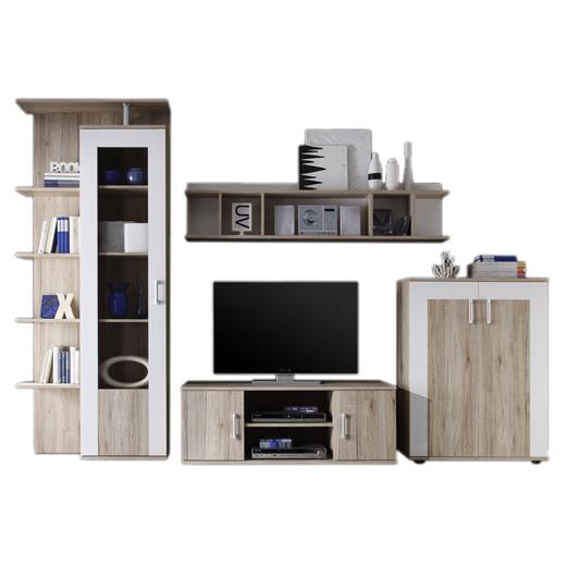 wohnwand in san remo weiss schrankwand anbauwand wohnzimmer tv m bel modern. Black Bedroom Furniture Sets. Home Design Ideas