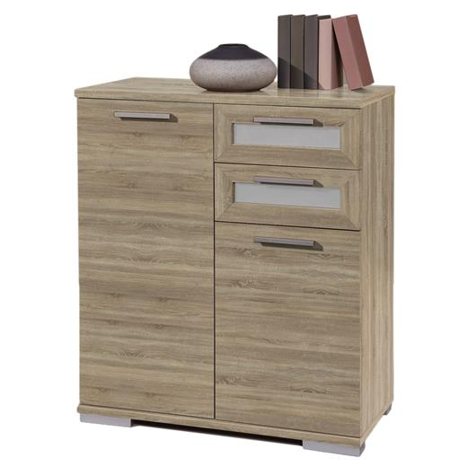 kommode 80 cm breit sonoma eiche anrichte highboard wohnzimmer flur m bel. Black Bedroom Furniture Sets. Home Design Ideas