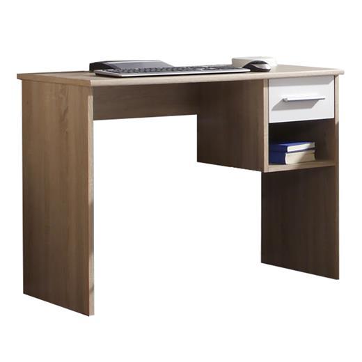 kleiner schreibtisch f r kinder o jugend zimmer in eiche sonoma weiss schublade ebay. Black Bedroom Furniture Sets. Home Design Ideas