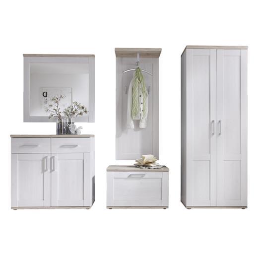 garderoben set 5 tlg sibiu l rche flur garderobe m bel. Black Bedroom Furniture Sets. Home Design Ideas