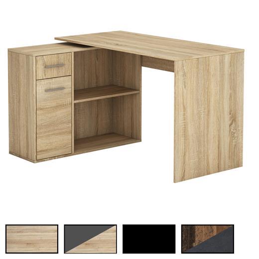 eckschreibtisch schreibtisch mit regal winkel b ro pc. Black Bedroom Furniture Sets. Home Design Ideas