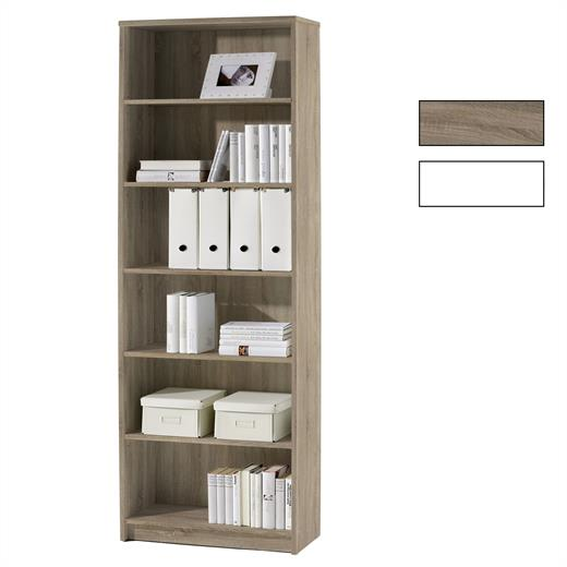 regal in weiss oder eiche s gerau b cher stand wand akten b ro wohnzimmer m bel. Black Bedroom Furniture Sets. Home Design Ideas