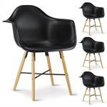 Stuhl 4er Set schwarz