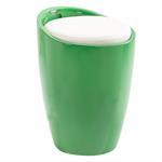 Sitzhocker mit Stauraum in grün/weiß