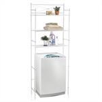 Toiletten Waschmaschinen Regal MARSA mit 3 Ablagen in weiß