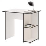 Schreibtisch KUBA in weiß/grau mit 2 Ablageflächen