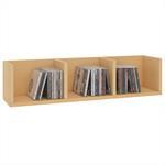 CD/DVD-Regal STARS mit 3 Fächern in buchefarben