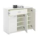 Schuhschrank DEUSTO 1 Schublade, 3 Türen in weiß