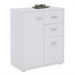 Kommode LOCARNO 2 Türen, 2 Schubladen in weiß