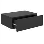 Hängende Nachtkommode ANNE mit 1 Schublade, schwarz