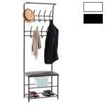 Garderobe WARDIE mit Schuhbank in modernen Farben