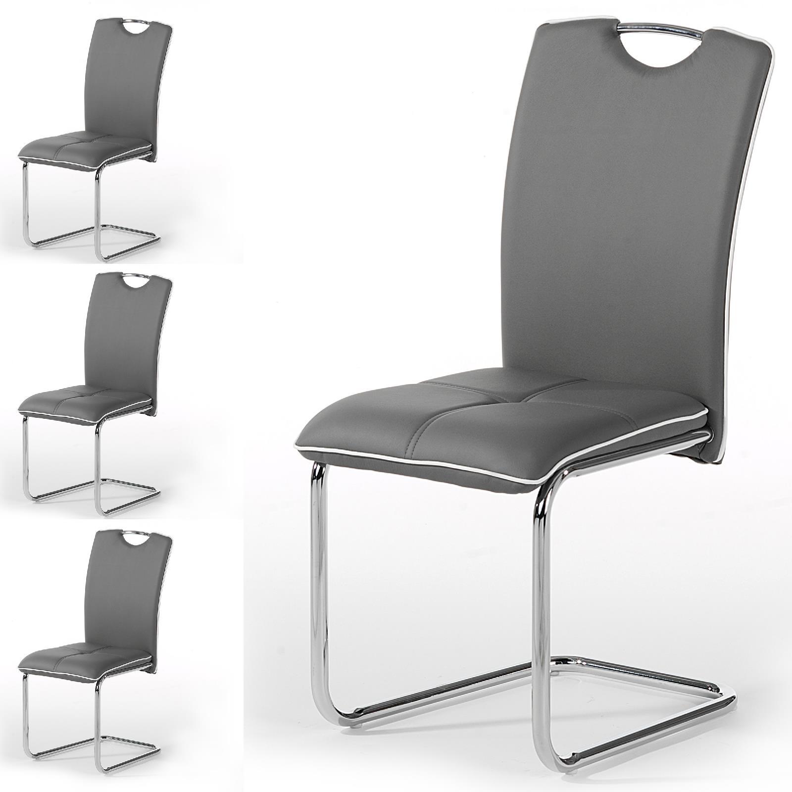 schwingstuhl leandra im 4er set in grau caro m bel. Black Bedroom Furniture Sets. Home Design Ideas