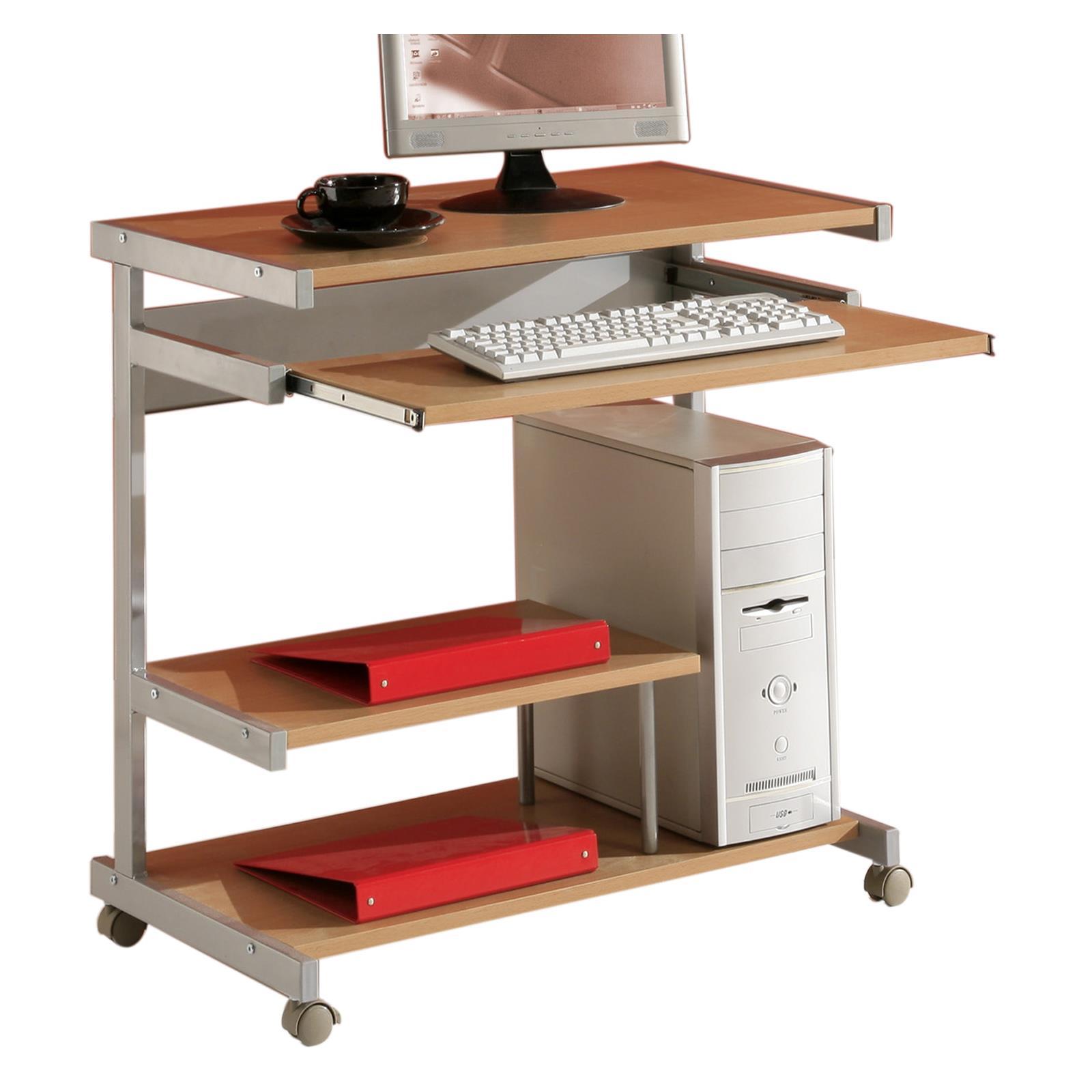 computertisch mit tastaturauszug buche caro m bel. Black Bedroom Furniture Sets. Home Design Ideas