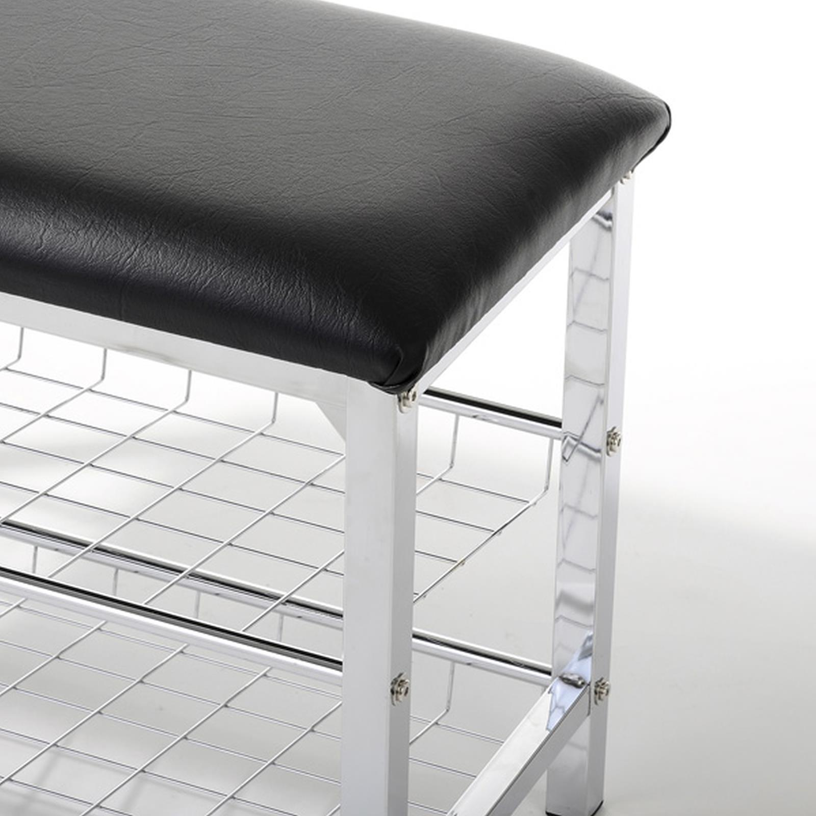 sitzbank mit schuhablage in schwarz caro m bel. Black Bedroom Furniture Sets. Home Design Ideas